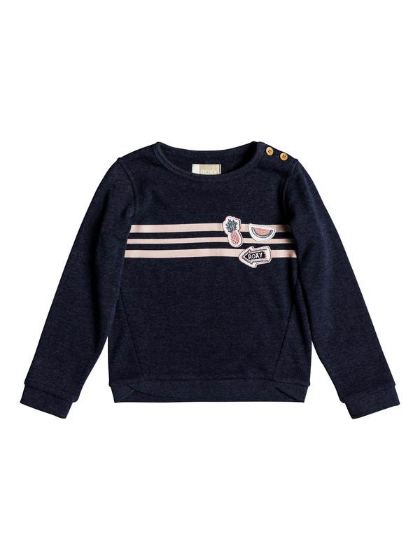 0 My Days Tell Me A Story - Sweatshirt for Girls 2-7 Blue ERLFT03153 Roxy