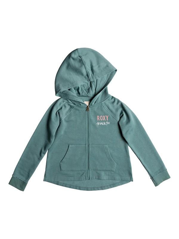 0 Girl's 2-6 Look Happier School Out Zip-Up Hoodie Blue ERLFT03154 Roxy