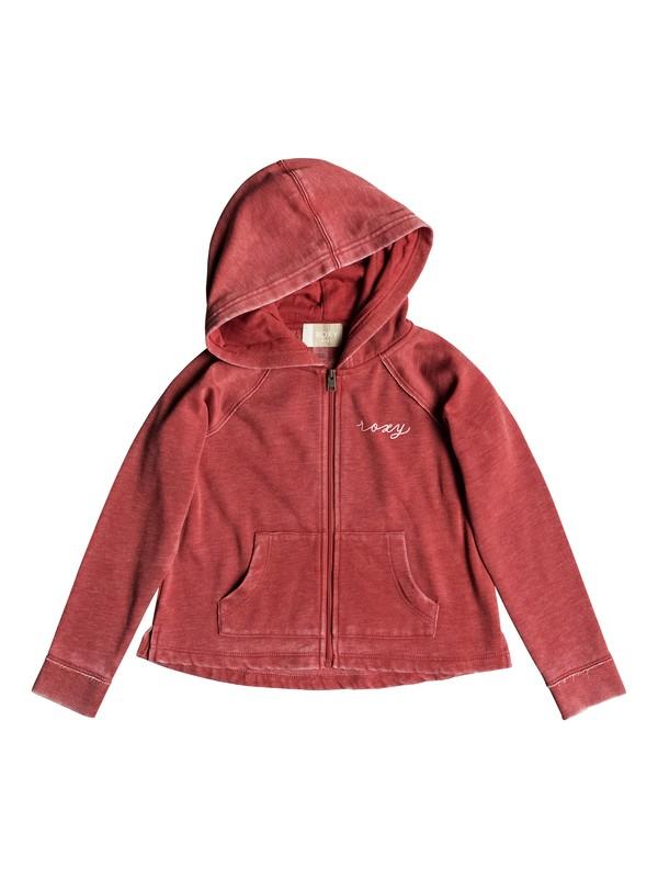 0 Girl's 2-6 Look Happier Triangles Zip-Up Hoodie Pink ERLFT03155 Roxy