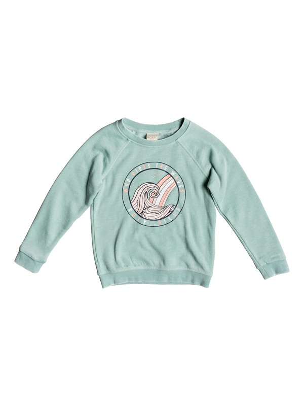 0 Girl's 2-6 Because Of You Sweatshirt Blue ERLFT03170 Roxy