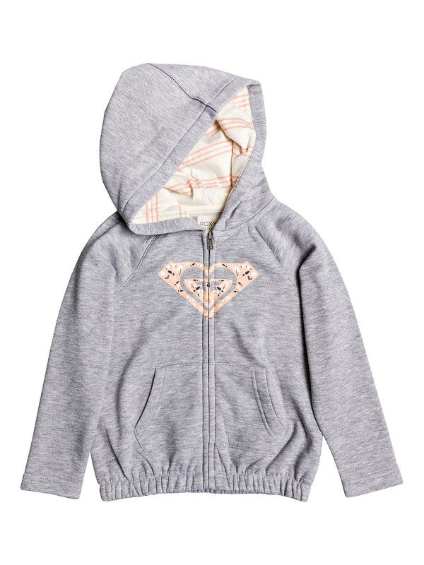 0 Girl's 2-6 Lazy Love Zip-Up Hoodie Grey ERLFT03172 Roxy