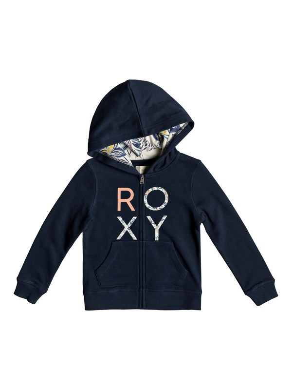 0 Girl's 2-6 Make It Easy Zip-Up Hoodie Blue ERLFT03173 Roxy
