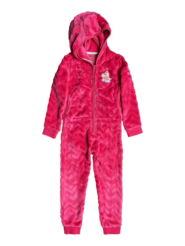 0 Cozy Up Technical Hooded Cosy Fleece Jumpsuit Pink ERLFT03180 Roxy