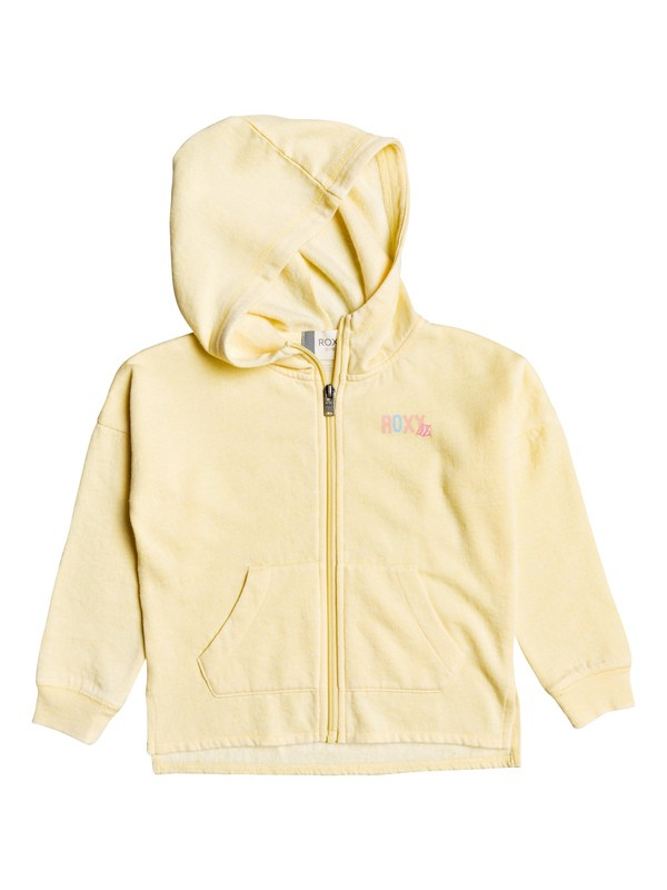 0 Girl's 2-6 Magic Wind B Zip-Up Hoodie Yellow ERLFT03190 Roxy
