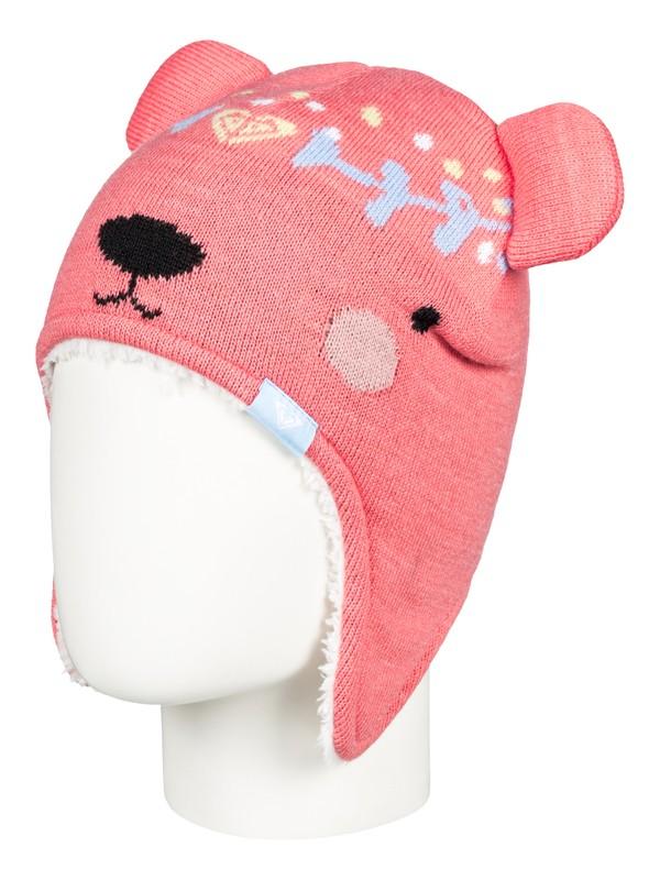 0 Bear - Bonnet à oreilles d'ours pour Fille 2-7 ans Rose ERLHA03041 Roxy
