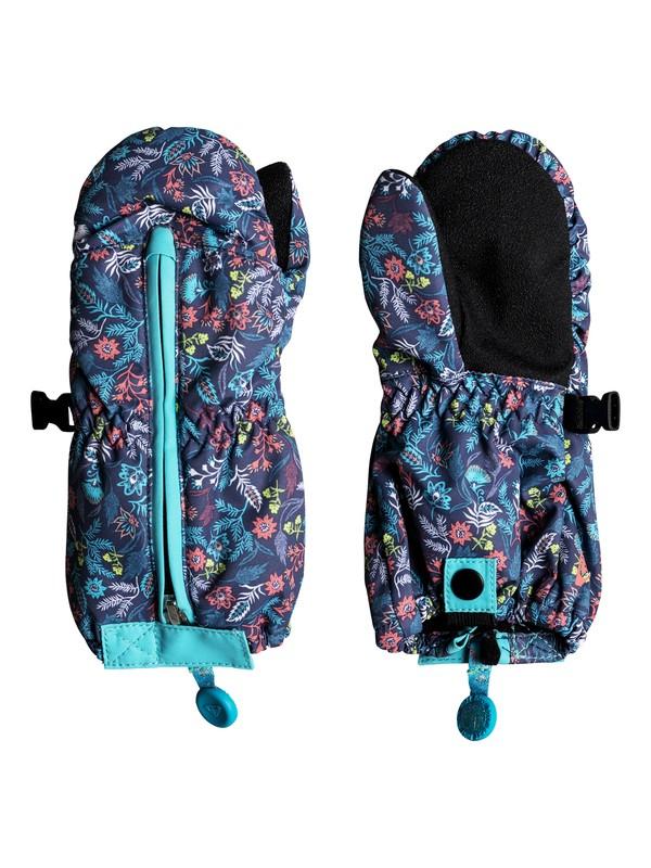 0 Snow's Up - Moufles de ski/snowboard pour Fille 2-7 ans Bleu ERLHN03005 Roxy