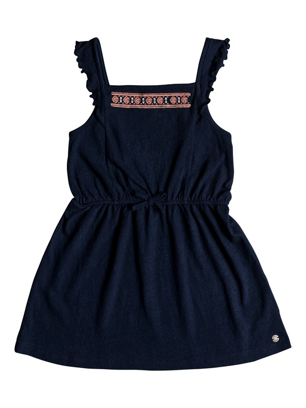 0 Girl's 2-6 Share My Dreams Tank Jersey Dress Blue ERLKD03051 Roxy