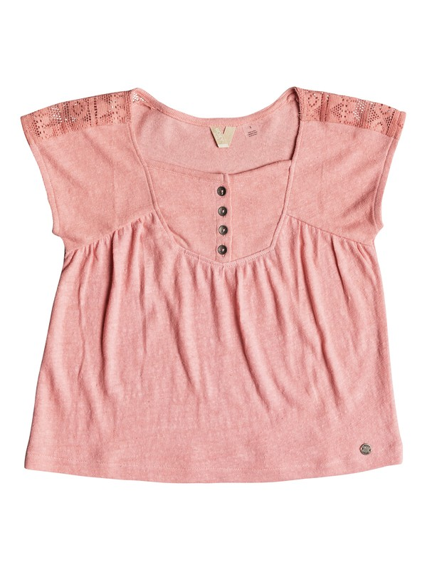 0 Girl's 2-6 Perfect Person Short Sleeve Top Pink ERLKT03060 Roxy