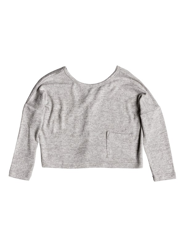 0 Girl's 2-6 Your Time Long Sleeve Top Grey ERLKT03063 Roxy