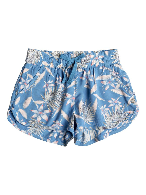 0 Girl's 2-6 Sunny Sunny Beach Shorts Blue ERLNS03029 Roxy