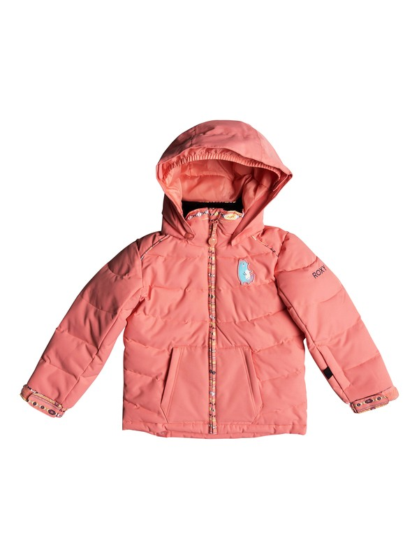0 Girl's 2-6 Anna Snow Jacket Pink ERLTJ03008 Roxy