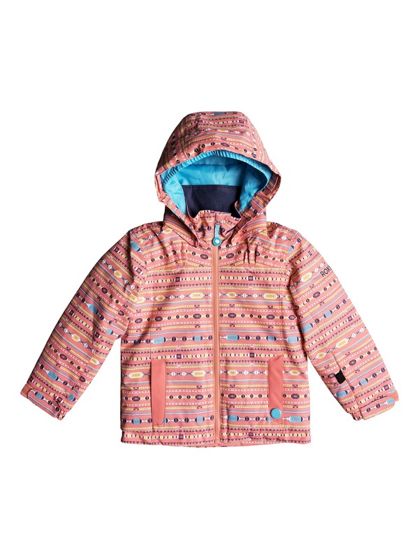 0 Girl's 2-6 Mini Jetty Snow Jacket Pink ERLTJ03009 Roxy