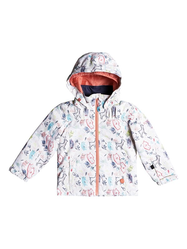 0 Girl's 2-6 Mini Jetty Snow Jacket White ERLTJ03009 Roxy