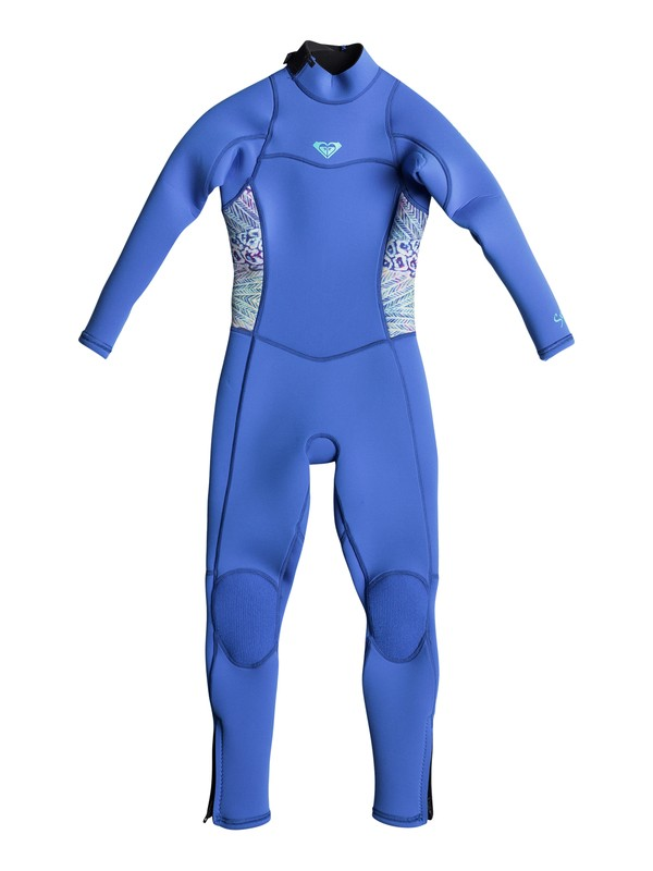 0 3/2mm Syncro Series - Back Zip FLT Wetsuit for Girls 2-7 Blue ERLW103000 Roxy