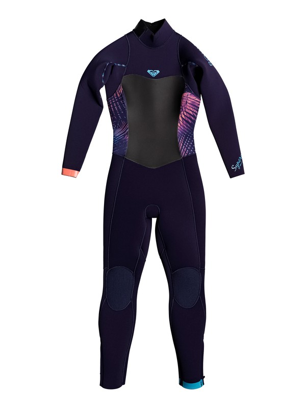 0 Girl's 7-14 4/3mm Syncro Series Back Zip GBS Wetsuit Blue ERLW103002 Roxy