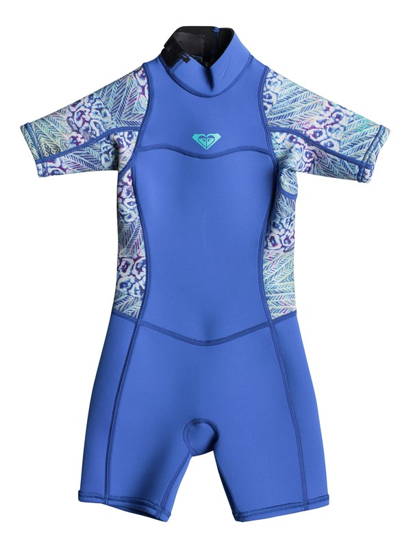 0 2/2mm Syncro Short Sleeve Back Zip FLT Springsuit Blue ERLW503001 Roxy