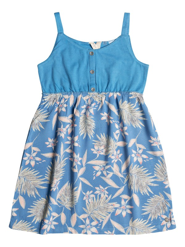0 Girl's 2-6 Sea Songs Printed Skirt Skater Dress Blue ERLWD03060 Roxy