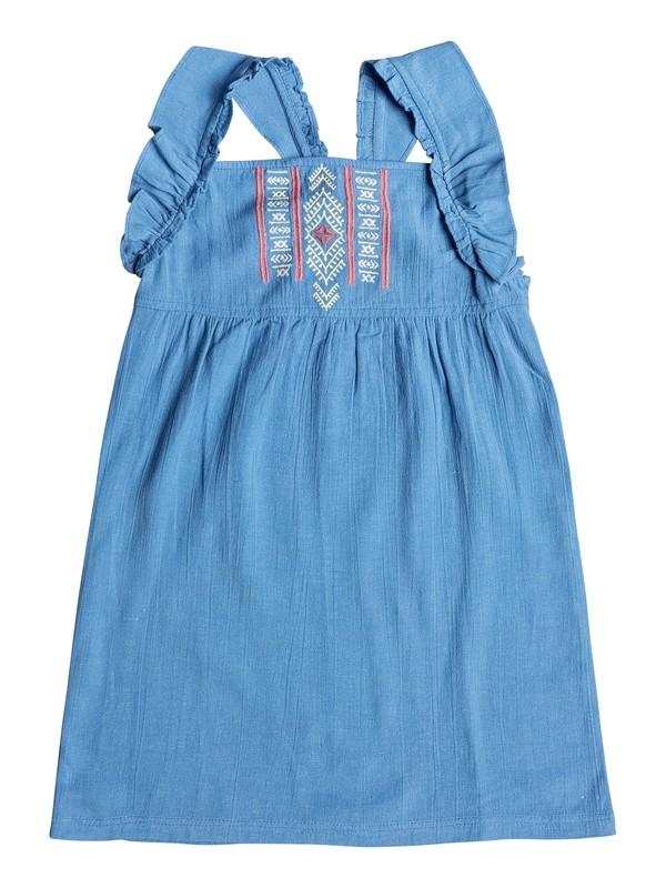 0 Girl's 2-6 Natural Feeling Ruffle Strap Dress Blue ERLWD03062 Roxy