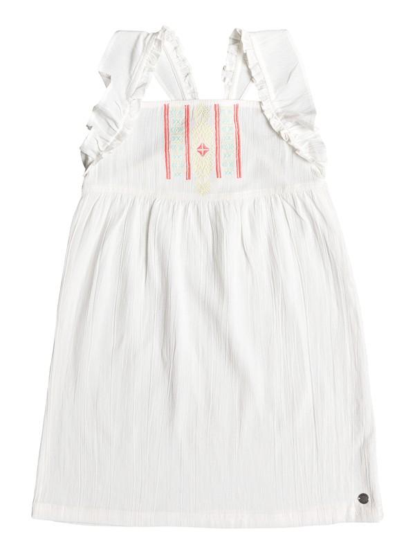 0 Girl's 2-6 Natural Feeling Ruffle Strap Dress White ERLWD03062 Roxy