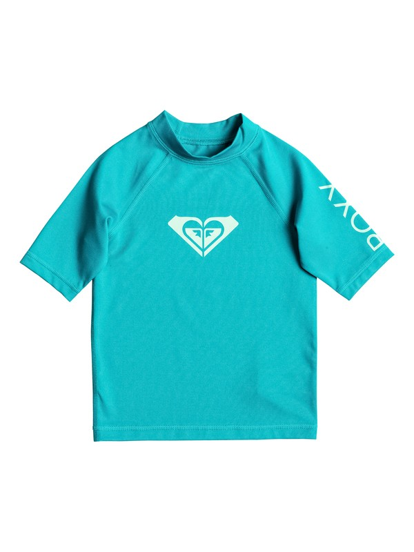 0 Girl's 2-6 Whole Hearted Short Sleeve UPF 50 Rashguard  ERLWR03005 Roxy
