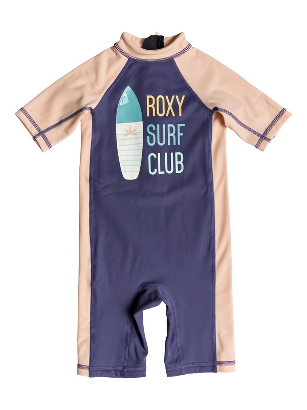 0 Salty Mermaid - Short Sleeve One-Piece UPF 50 Rashguard for Girls 2-7 Blue ERLWR03070 Roxy