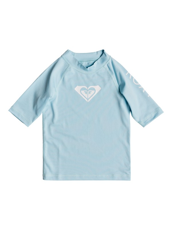 0 Girl's 2-6 Whole Hearted Short Sleeve UPF 50 Rash Guard Blue ERLWR03074 Roxy
