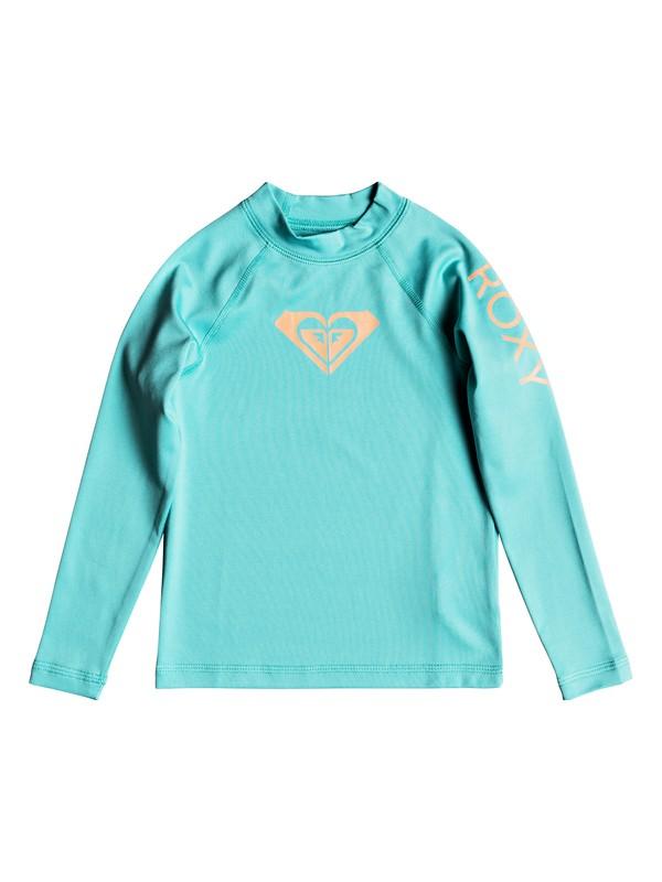 0 Girl's 2-6 Whole Hearted Long Sleeve UPF 50 Rash Guard Blue ERLWR03075 Roxy