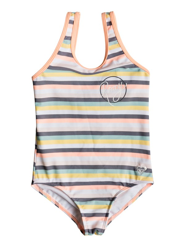 0 Girl's 2-6 Girl Lets Go Surfing One-Piece Swimsuit Pink ERLX103034 Roxy