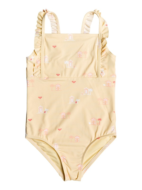 0 Girl's 2-6 Tropical Away One-Piece Swimsuit Yellow ERLX103038 Roxy