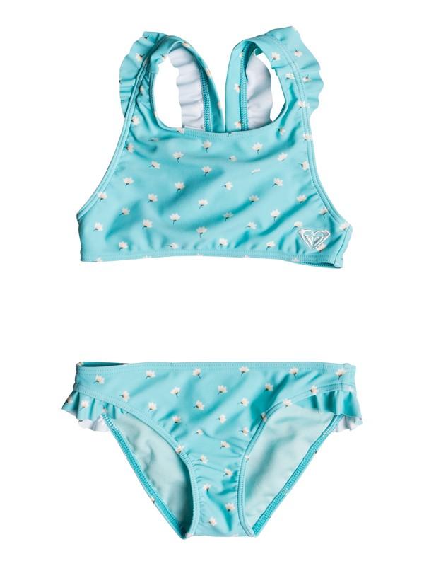 0 Girl's 2-6 Baby Saguaro Crop Top Set Blue ERLX203053 Roxy