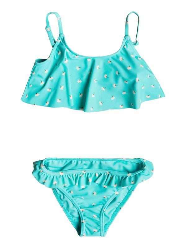 0 Girl's 2-6 Baby Saguaro Flutter Bikini Set Blue ERLX203054 Roxy
