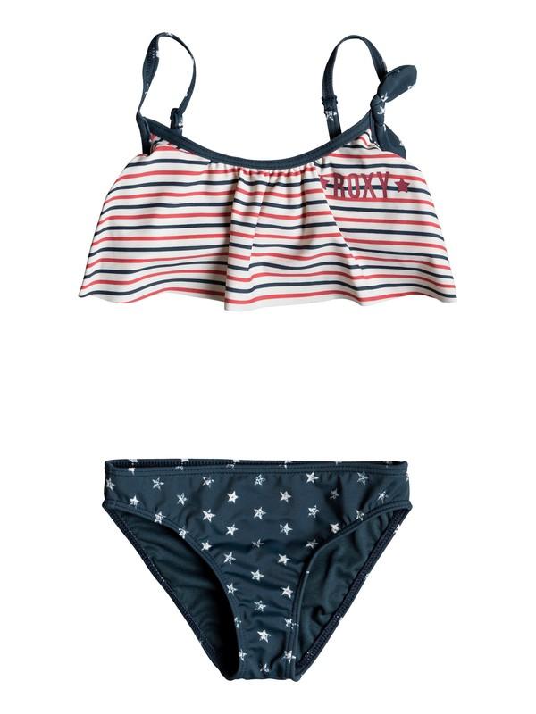 0 Girl's 2-6 Surfing USA Flutter Bikini Set Blue ERLX203055 Roxy