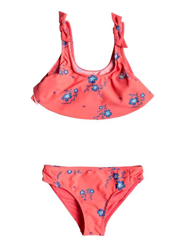 0 Girl's 2-6 Chill After Flutter Bikini Set Red ERLX203061 Roxy