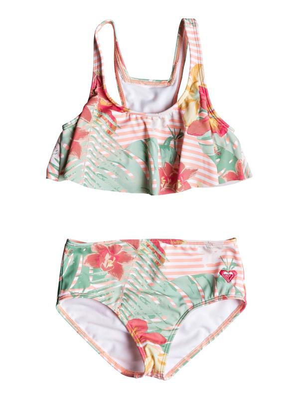 0 Girl's 2-6 Lush Florals Flutter Bikini Set Pink ERLX203070 Roxy