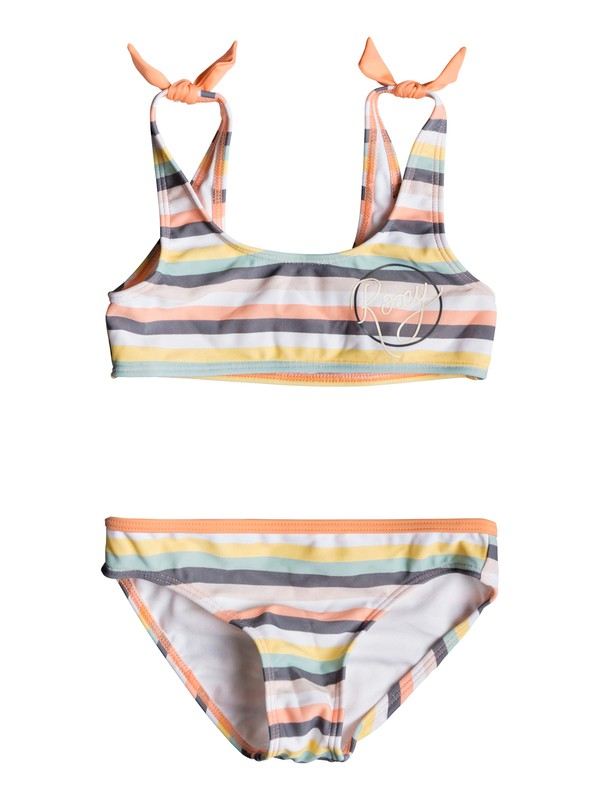0 Girl's 2-6 Girl Lets Go Surfing Sports Bra Bikini Set Pink ERLX203071 Roxy
