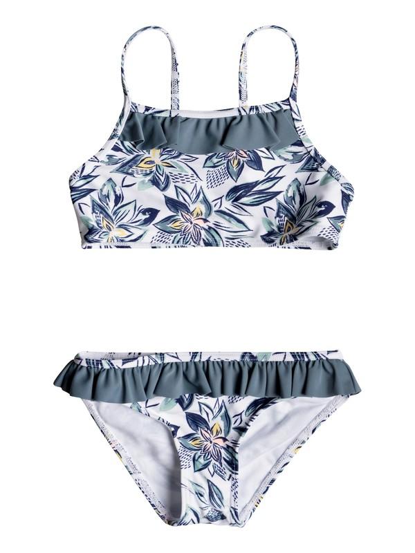 0 Magic Seeker - Conjunto de Bikini Atlético para Chicas 2-7 Blanco ERLX203072 Roxy
