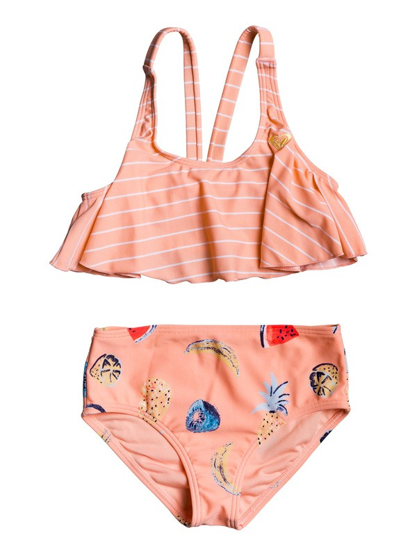 0 Girl's 2-6 Splashing You Flutter Bikini Set Pink ERLX203078 Roxy