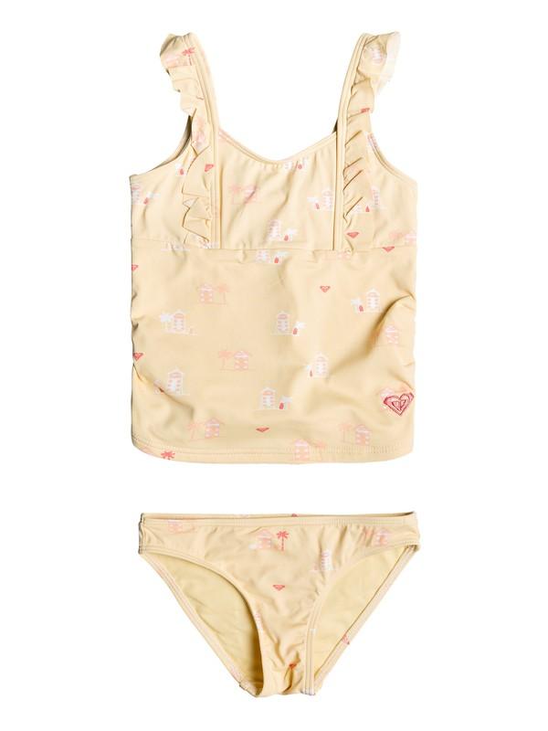 0 Girl's 2-6 Tropical Away Tankini Set Yellow ERLX203080 Roxy
