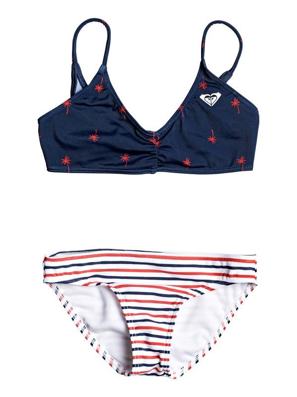 0 Girl's 2-6 Chasing Love Athletic Bikini Set Blue ERLX203082 Roxy