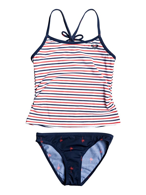 0 Girl's 2-6 Chasing Love Tankini Set Blue ERLX203083 Roxy