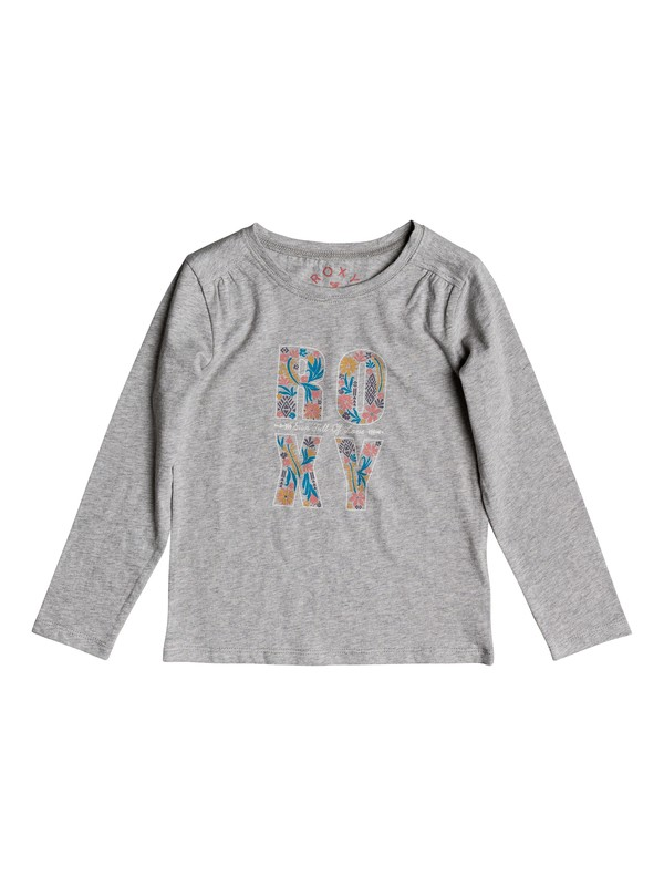 0 Never Ages Flower Power - T Shirt à manches longues pour Fille 2-7 ans Gris ERLZT03093 Roxy