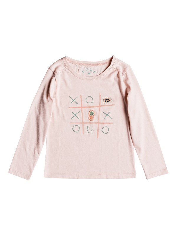 0 Girl's 2-6 Never Ages Game Over Long Sleeve Tee Pink ERLZT03143 Roxy