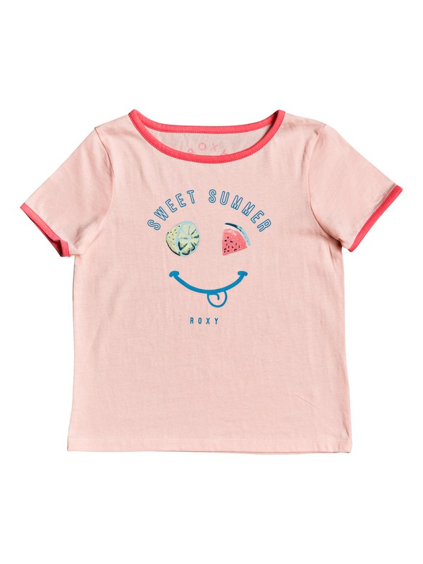 0 Girl's 2-6 Times Up A Ringer Tee Pink ERLZT03221 Roxy