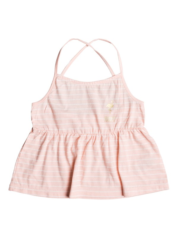 0 Girl's 2-6 Mountain To Move A Strappy Peplum Top Pink ERLZT03224 Roxy