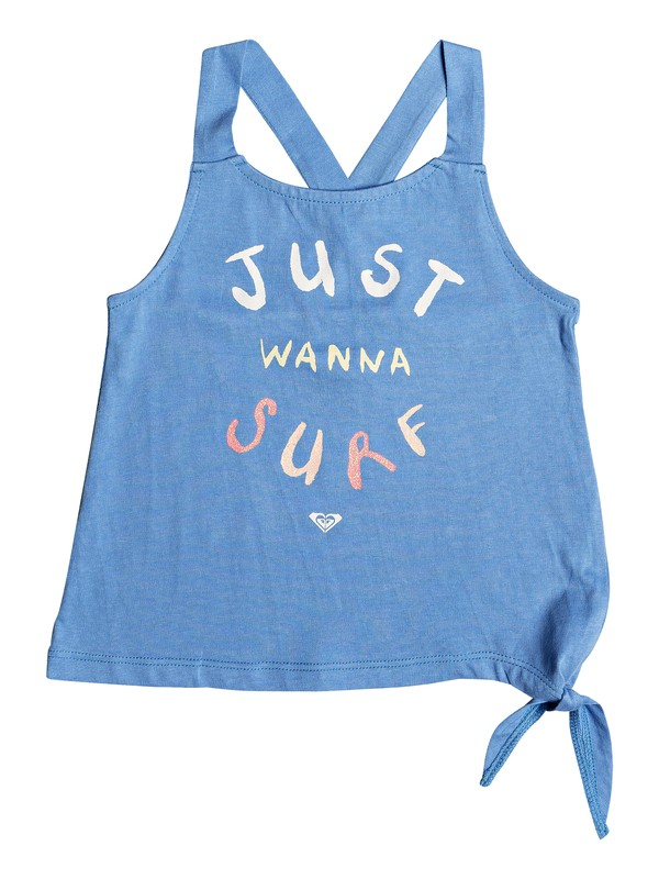 0 Girl's 2-6 Girl Like You B Tie-Side Tank Top Blue ERLZT03227 Roxy