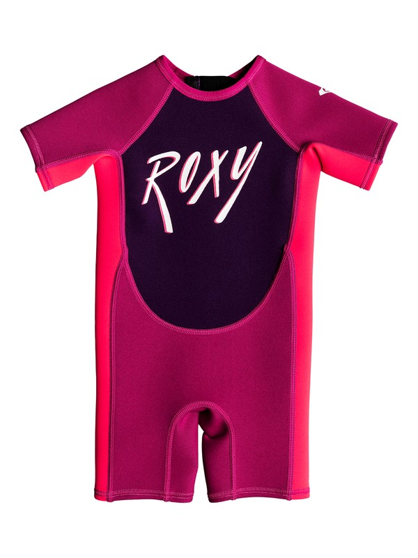 0 Girl's 2-6 Toddlers 1.5mm Syncro Short Sleeve Back Zip Springsuit Red EROW503002 Roxy
