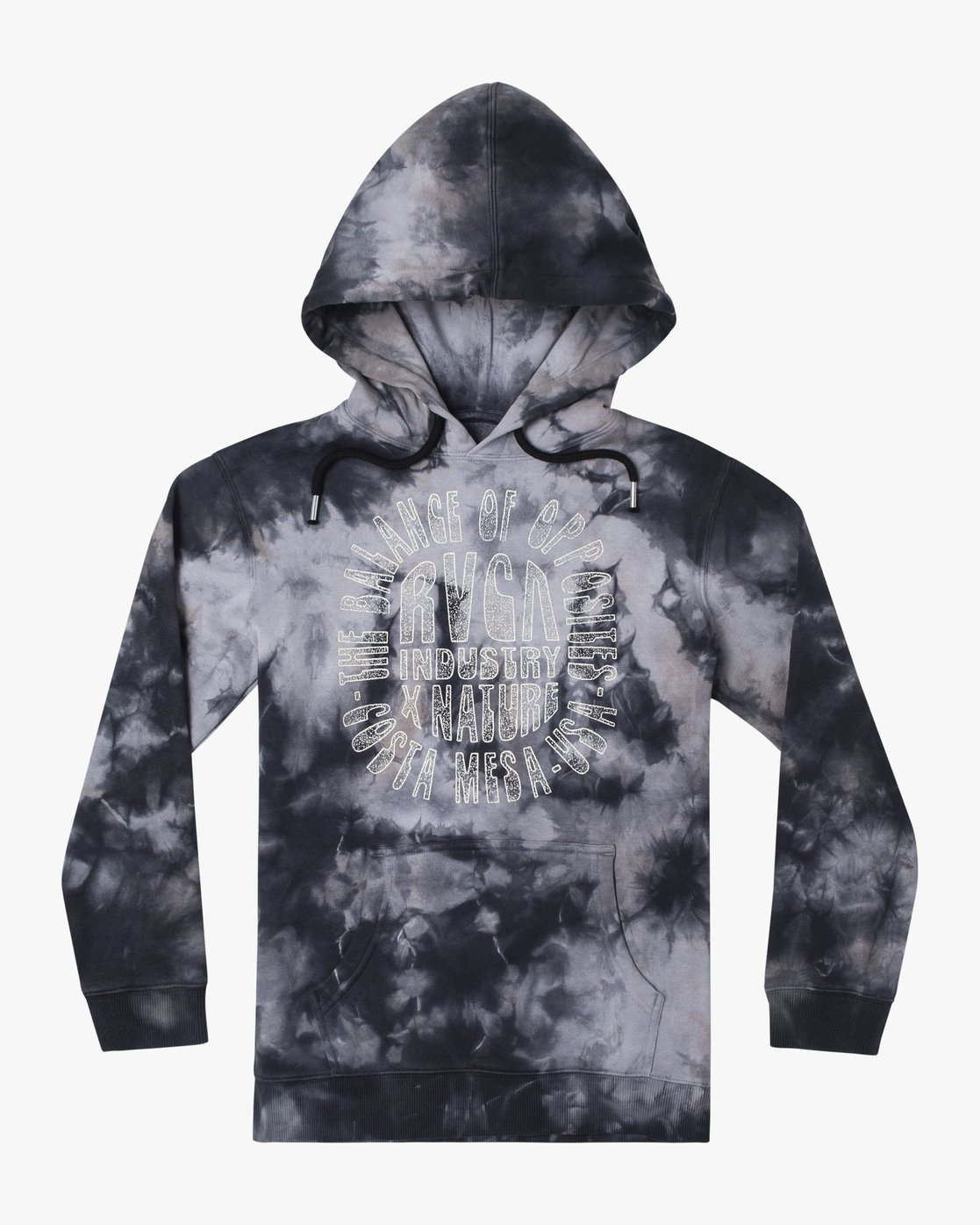 1 POINT DUME TIE DYE HOODIE Grey AVBFT00109 RVCA