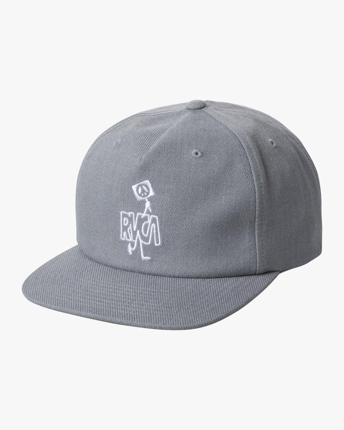 0 BOY'S STRIKE SNAPBACK HAT Grey AVBHA00107 RVCA