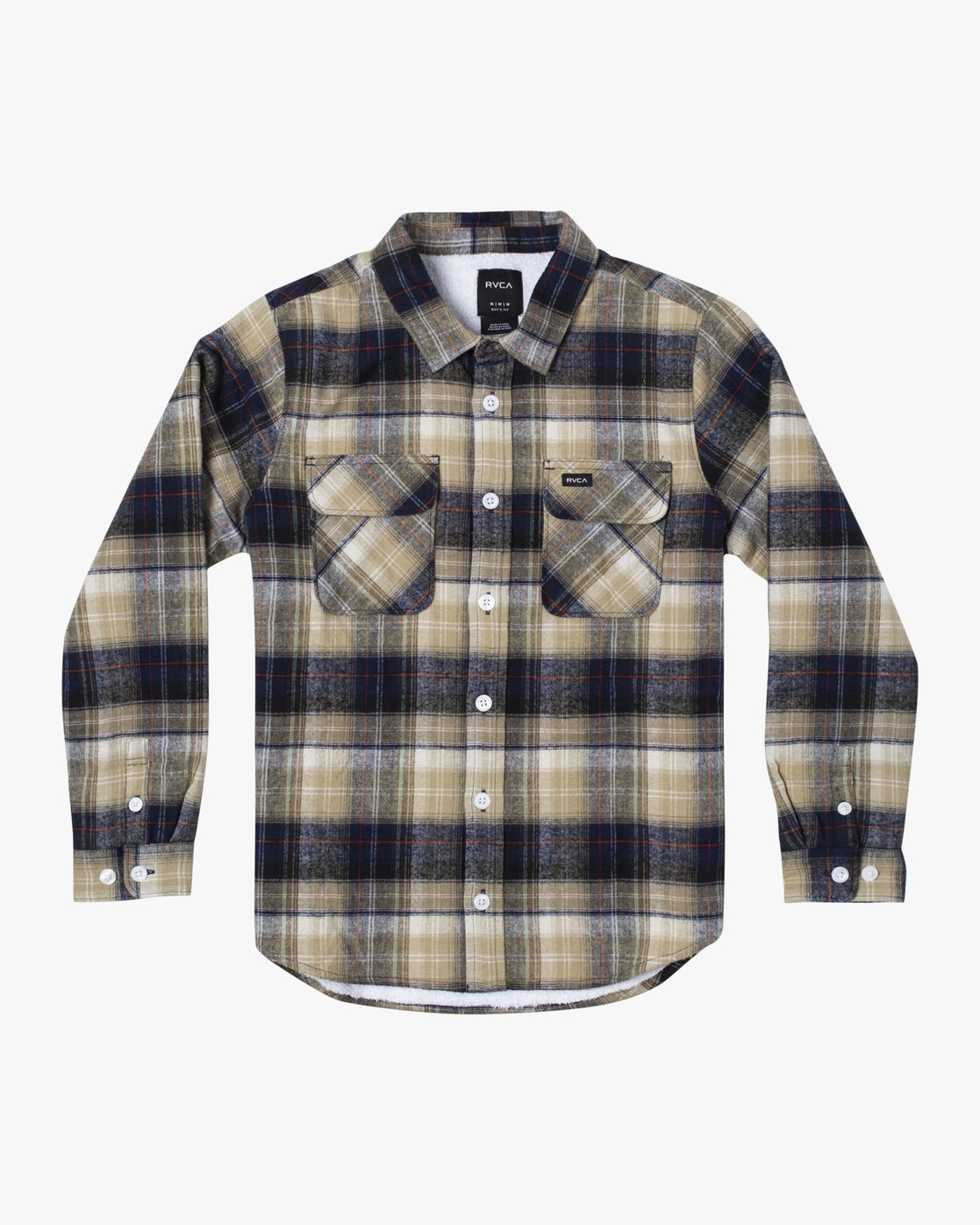 1 BOYS EMERSON LONG SLEEVE FLANNEL Blue AVBWT00106 RVCA