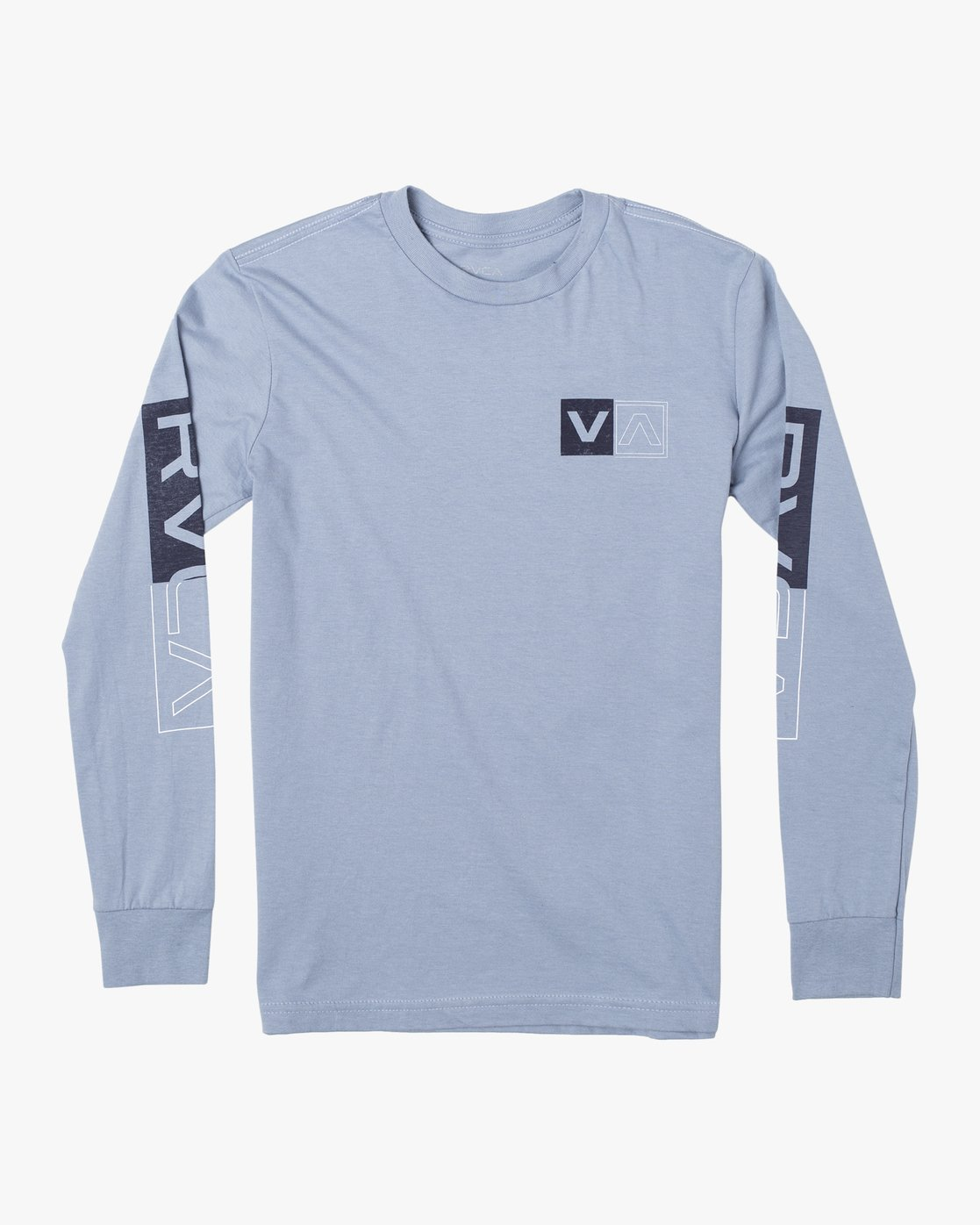 0 BOYS DIVIDES LONG SLEEVE TEE Blue AVBZT00108 RVCA